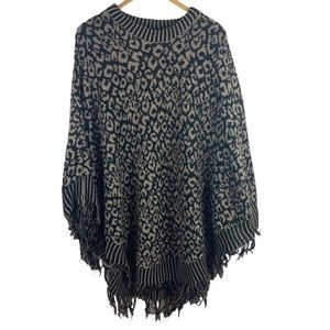 Do Everything In Love Poncho Sweater One Size
